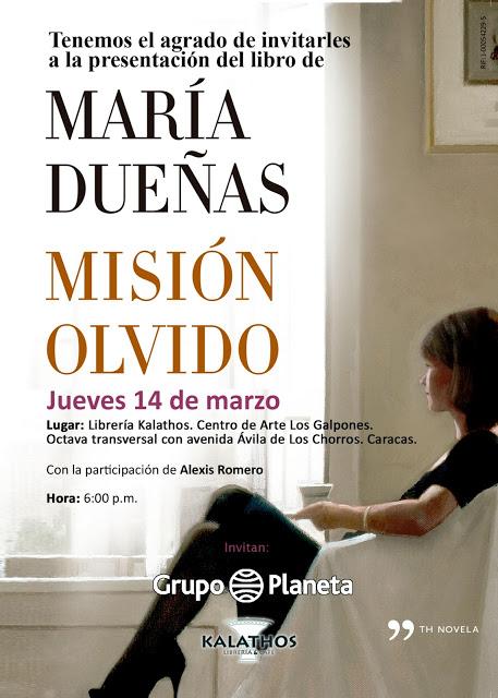 Invitacion Maria Dueñas